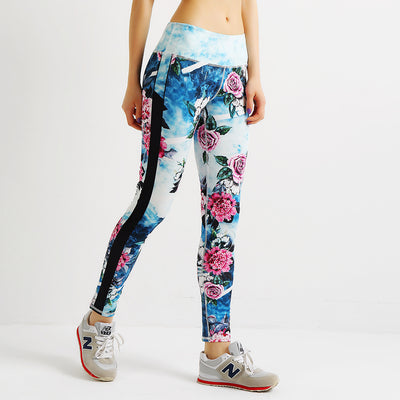 Ladies floral leggings
