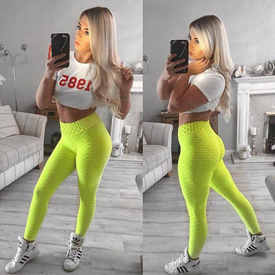 ColorPop Solid Color Tights Fitness Leggings