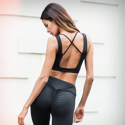 Sexy backless sports bra for gym