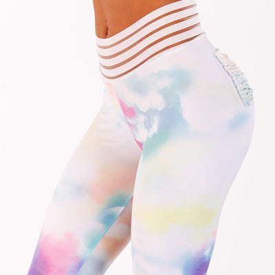 Messy Clouds Fitness Leggings