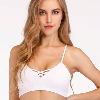 Womens white sports bras for yoga