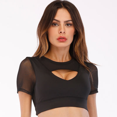 Meshed Crop top Women's Gym Bra