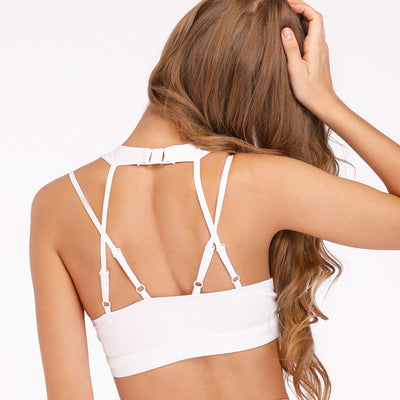 High Impact White Sports Bra