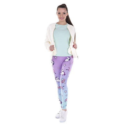 Cute Unicorn Printed Leggings