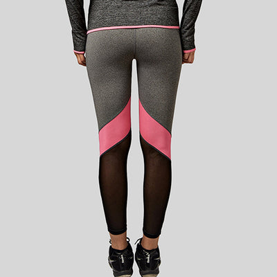 Patchwork Meshed Yoga Pants