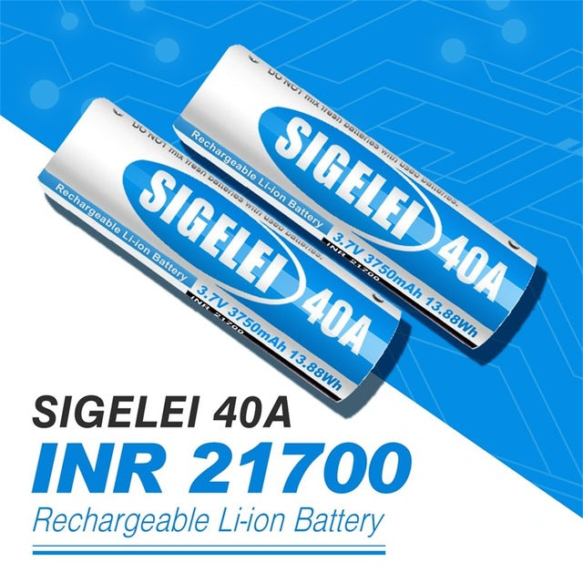 Sigelei INR 21700 Battery 40A 3.7V 3750mAh