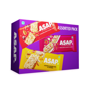 ASAP Assorted Box of Six Granola Bars, 210g