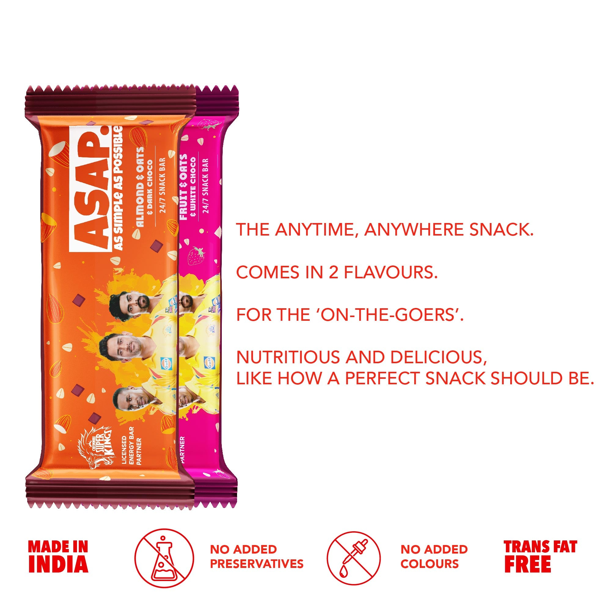ASAP Festive pack of 12 snack bars - limited time special edition CSK packs