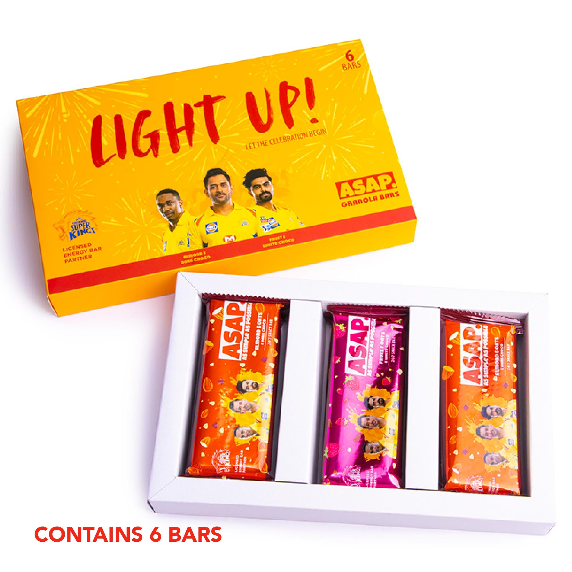 ASAP Festive pack of 6 snack bars - limited time special edition CSK packs
