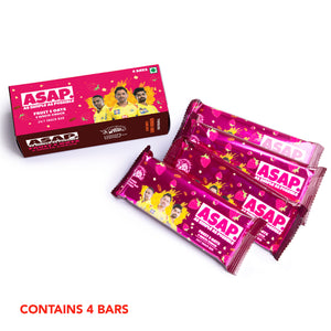 ASAP Fruit, Oats & White Choco Snack Bars - Box of 4. Special edition CSK Packs