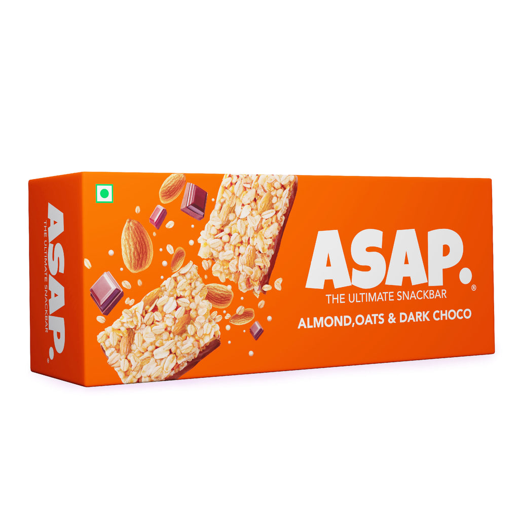 ASAP Almond and Dark Chocolate Granola Bars, 35g Each - Box of three