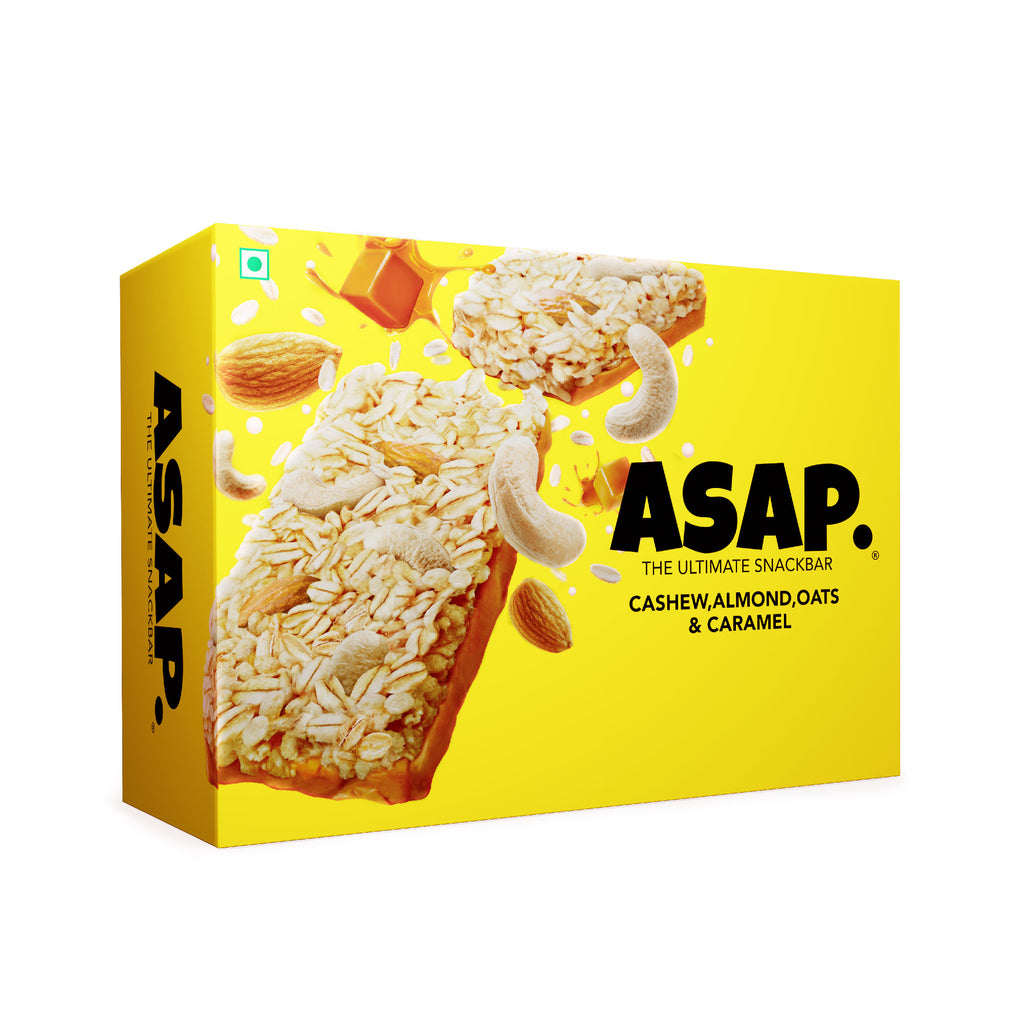 ASAP Almond, Cashew and Caramel Granola Bars, 35g Each - Box of six