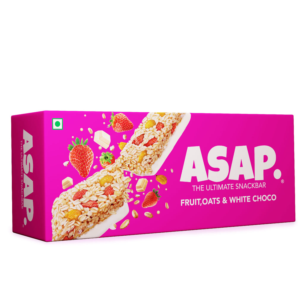 ASAP Fruit & White Chocolate Granola Bars, 35g Each - Box of Three