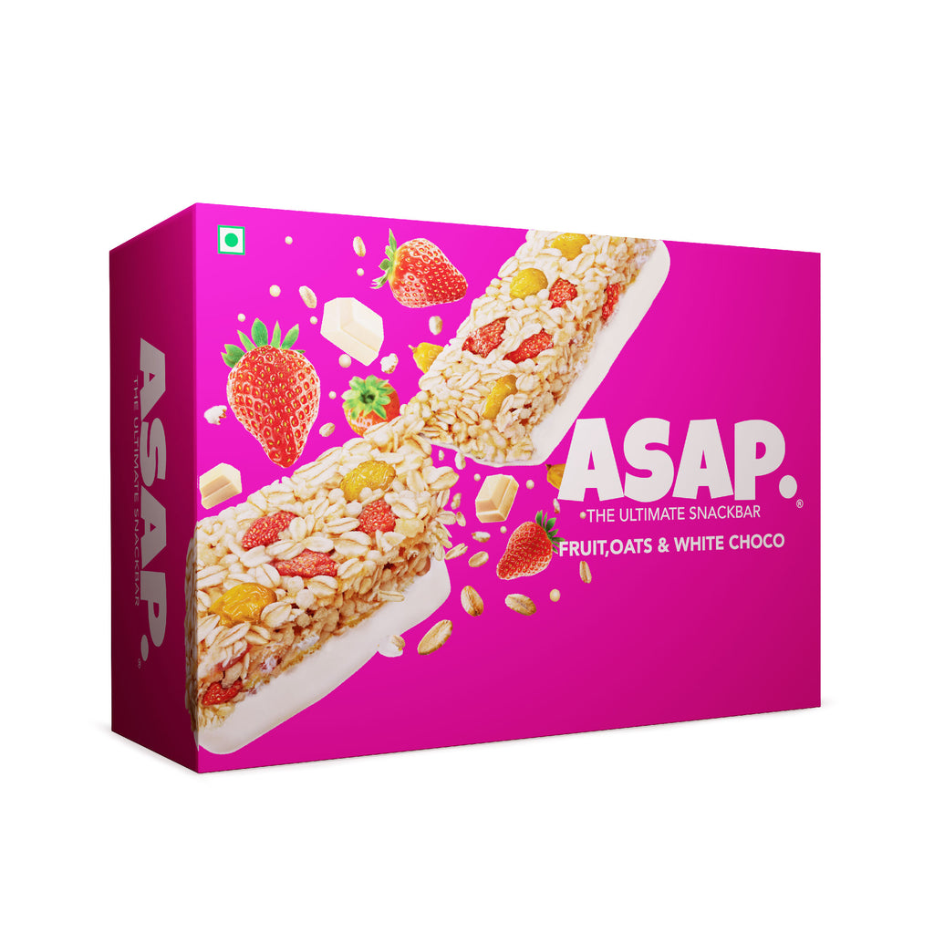 ASAP Fruit & White Chocolate Granola Bars, 35g Each - Box of six