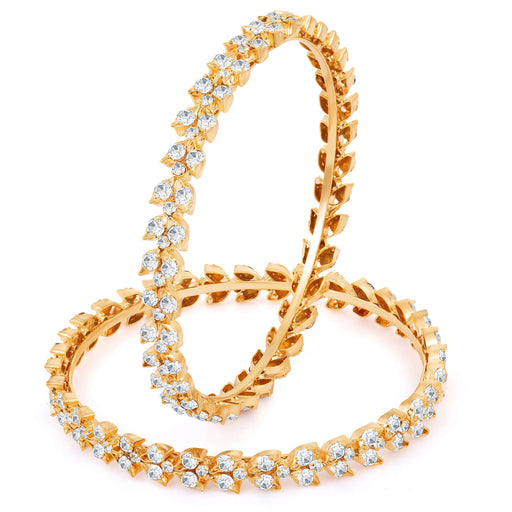 Sukkhi Alluring Gold & Rhodium Plated AD Bangle