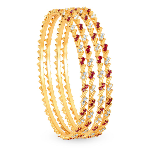Sukkhi Gold Plated Color & AD Stone bangles - 1124VB900