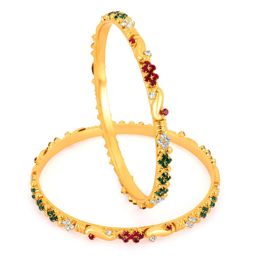 Sukkhi Gold Plated Color Stone Bangles - 1144VB900