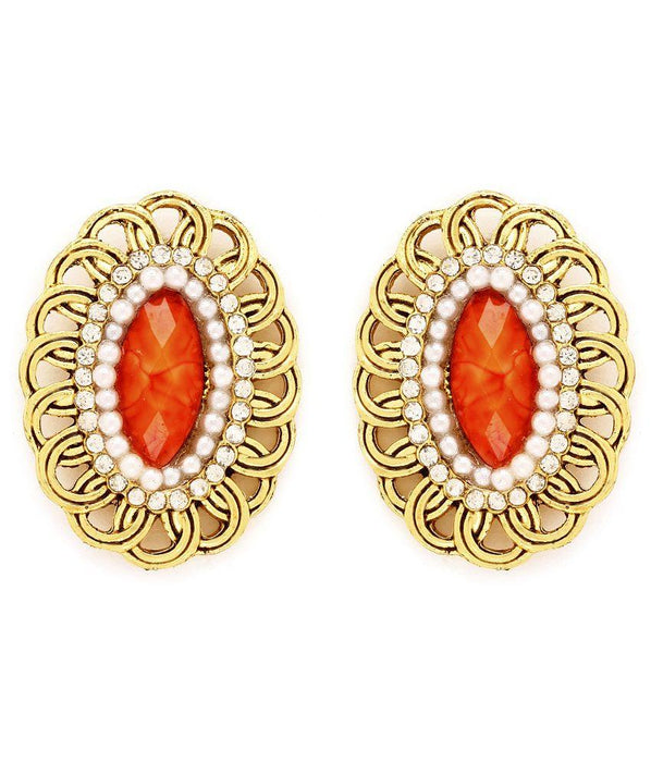 Sukkhi Pretty Gold Plated AD Earring For Women