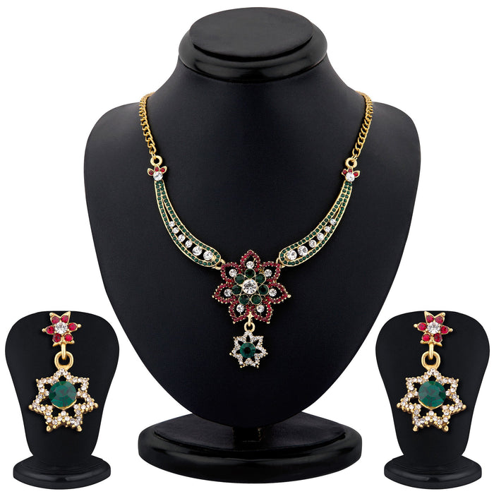 Sukkhi color stone necklace set - 1161VN1500