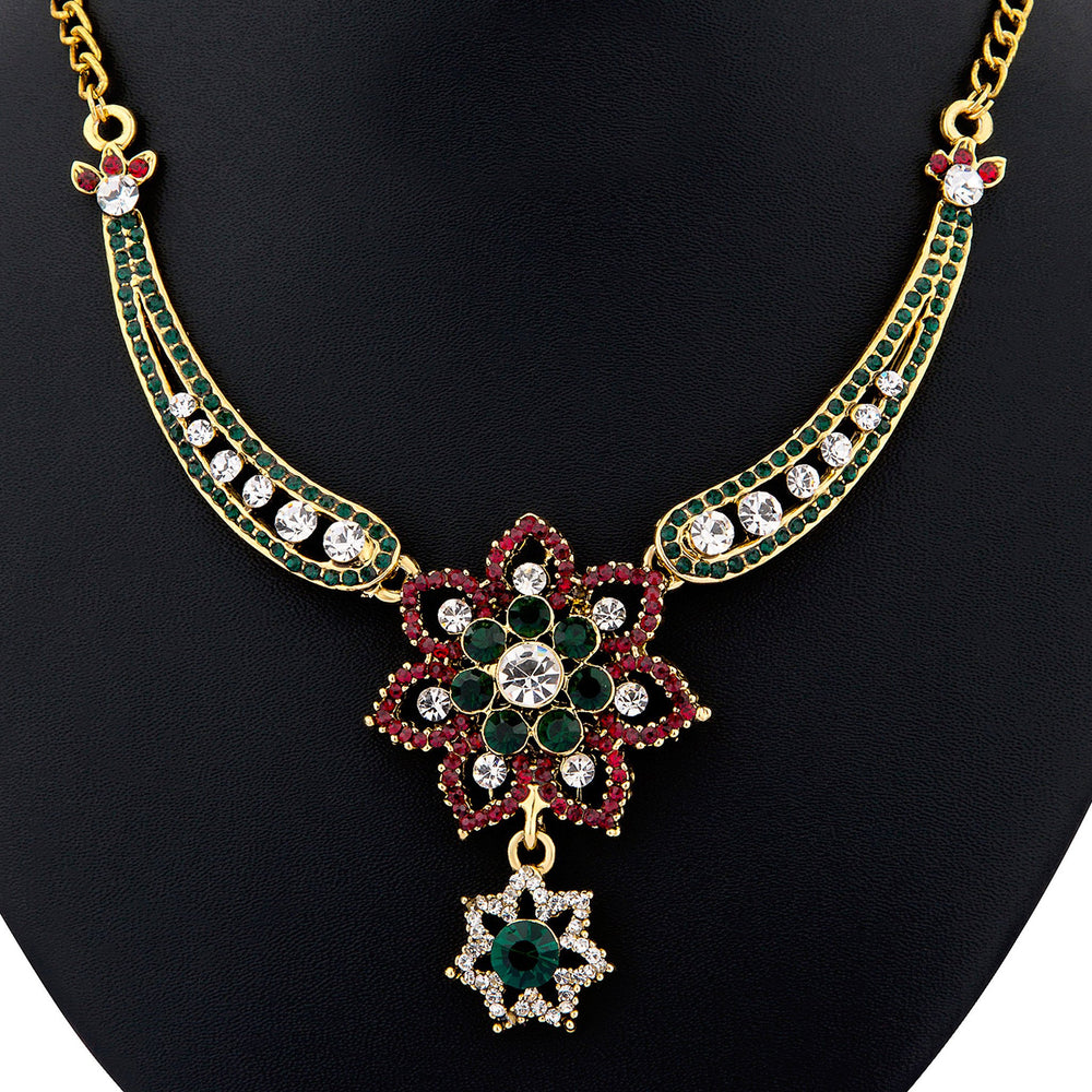 Sukkhi color stone necklace set - 1161VN1500-1