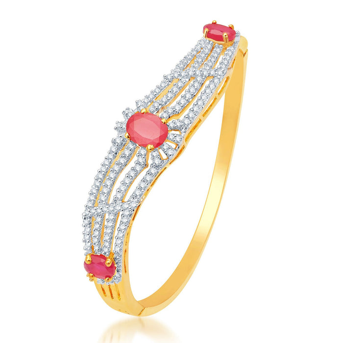 Pissara Graceful Gold and Rhodium Plated CZ Kada