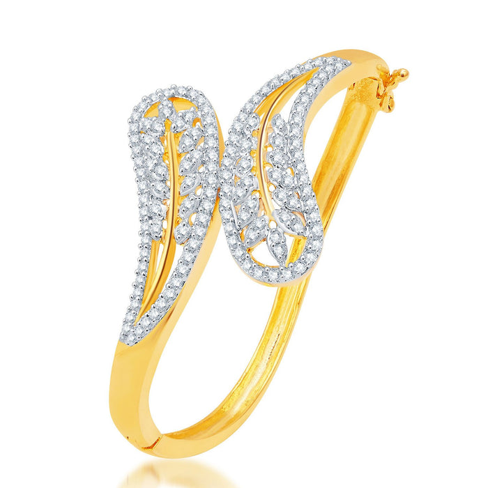 Pissara Sublime Gold and Rhodium Plated CZ Kada