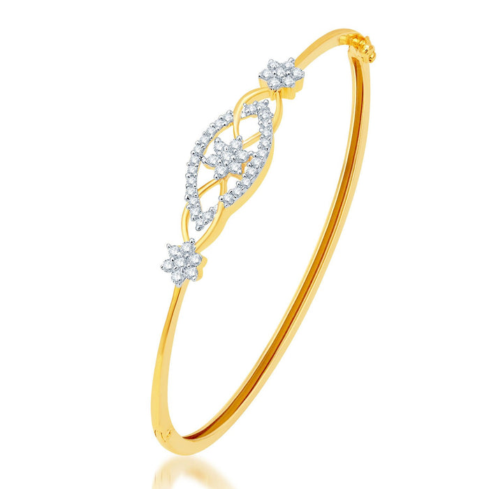 Pissara Stunning Gold and Rhodium Plated CZ Kada