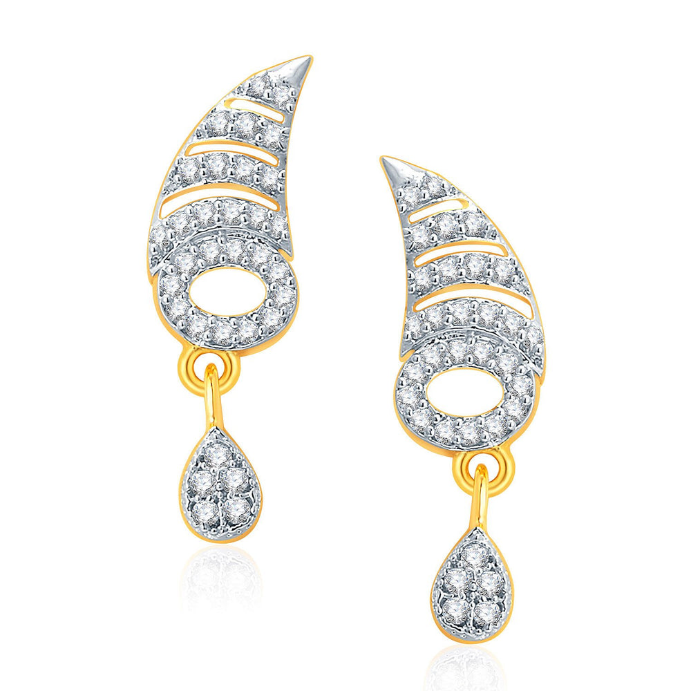 Pissara Exotic Gold And Rhodium Plated CZ Mangalasutra Set For Women-2