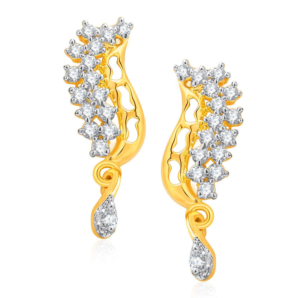 Pissara Gracious Gold And Rhodium Plated CZ Mangalasutra Set For Women-2