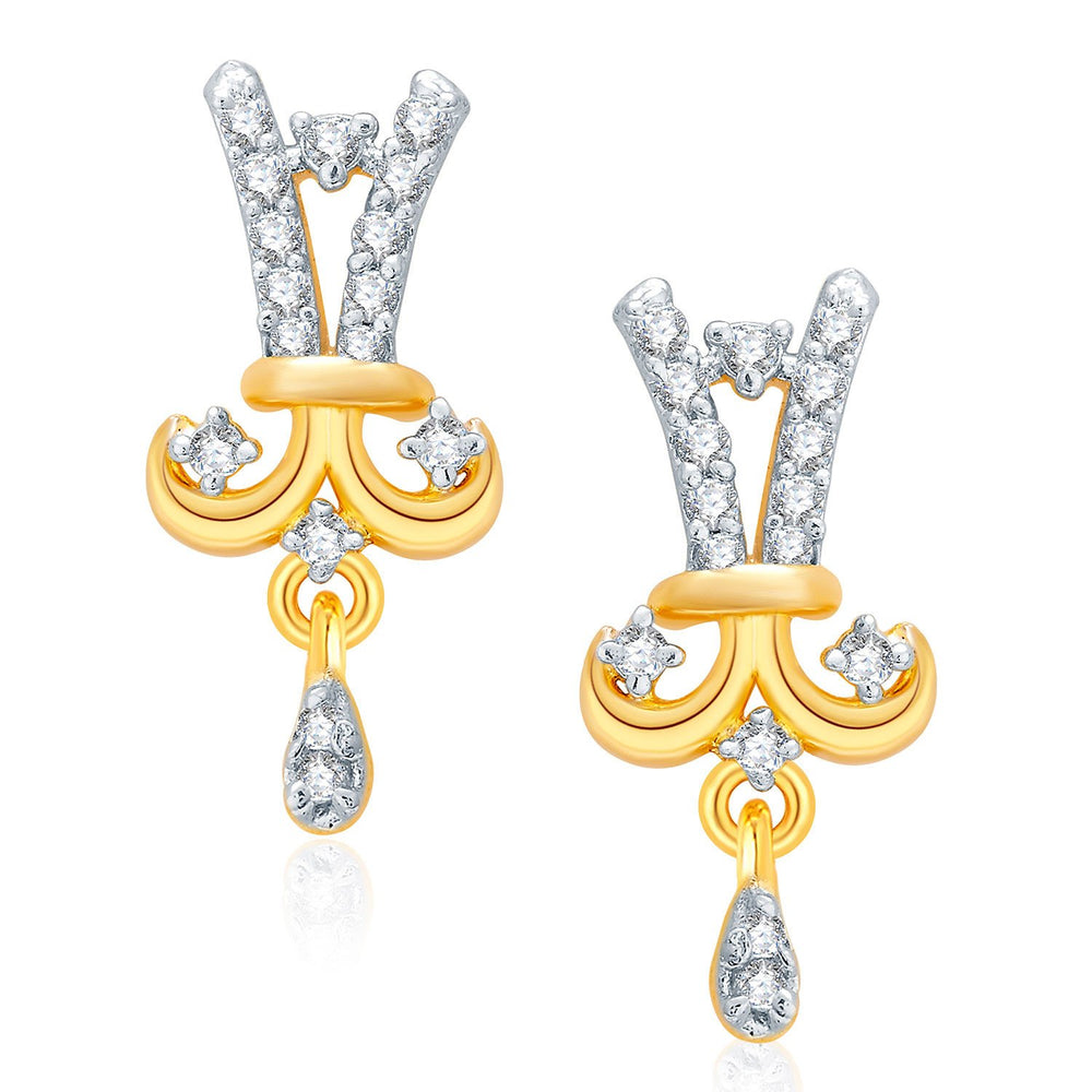 Pissara Heartly Gold And Rhodium Plated CZ Mangalasutra Set For Women-2