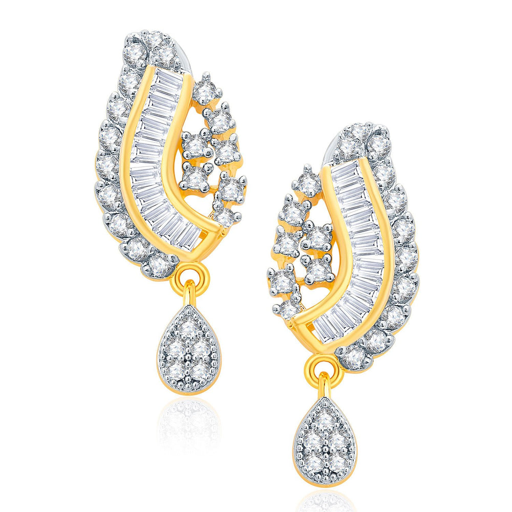 Pissara Gorgeous Gold And Rhodium Plated CZ Mangalasutra Set For Women-2