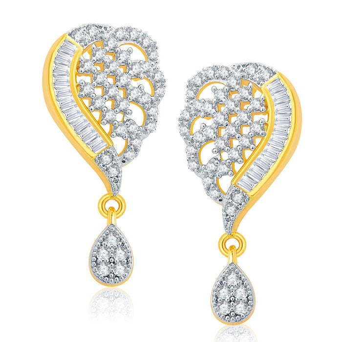 Pissara Fascinating Gold And Rhodium Plated CZ Mangalasutra Set For Women-2