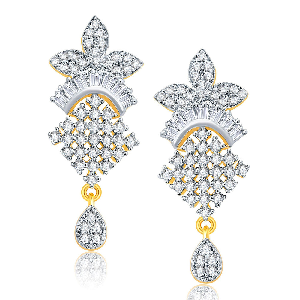 Pissara Jovia Gold And Rhodium Plated CZ Mangalasutra Set For Women-2