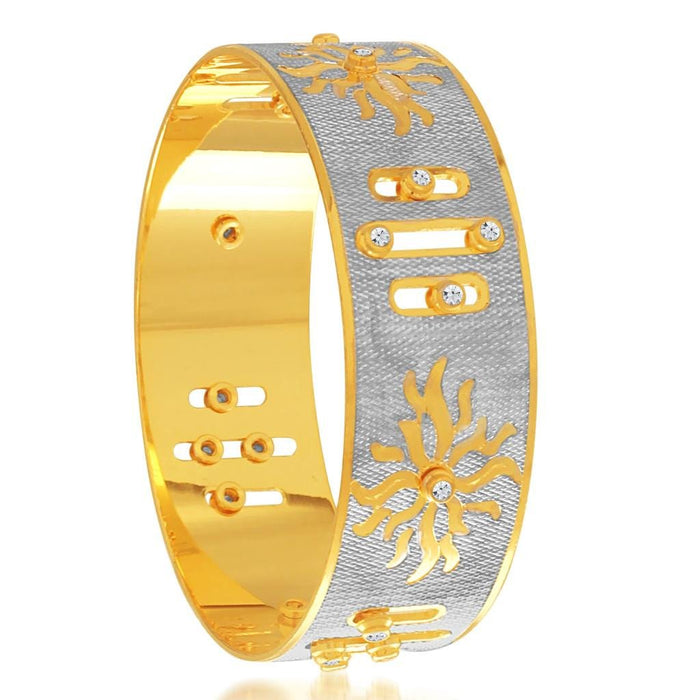 Sukkhi Pretty Gold and Rhodium Plated Dancing Kada for Women