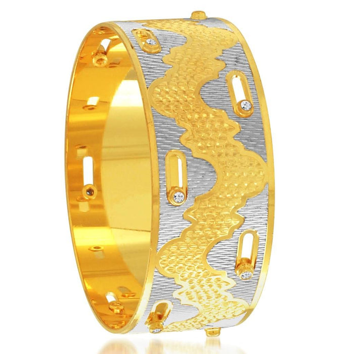 Sukkhi Exquitely Gold and Rhodium Plated Dancing Kada for Women