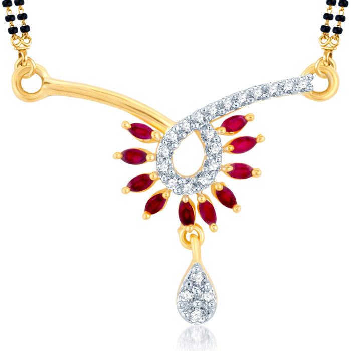 Pissara Incredible Gold Plated CZ Set of 3 Mangalsutra Combo For Women-3
