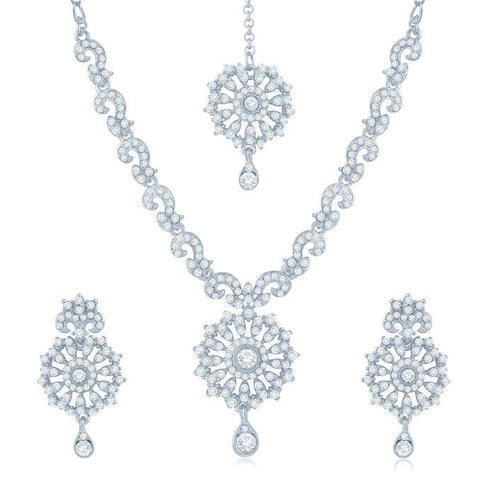 Sukkhi Blossomy 2 Pieces Necklace Set Combo-2