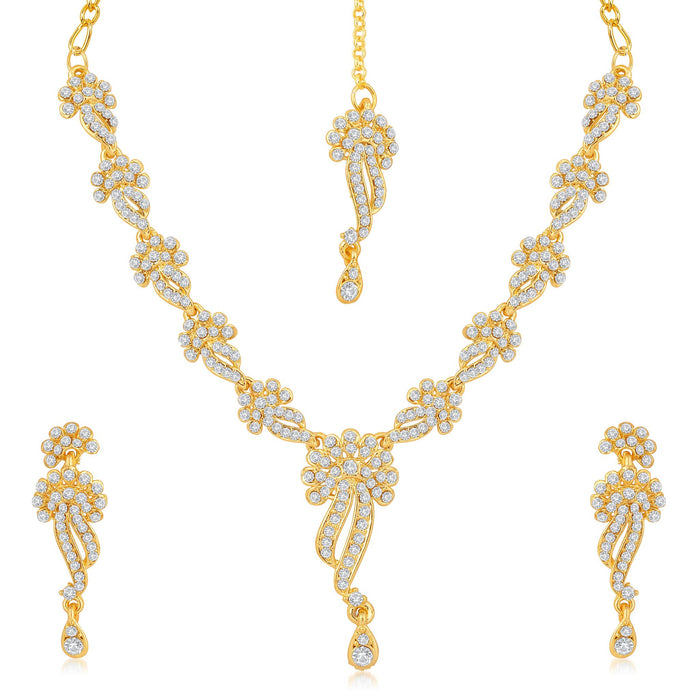 Sukkhi Blossomy 2 Pieces Necklace Set Combo-1