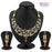 Pissara Marvellous Gold Plated Kundan and CZ Fusion Necklace Set