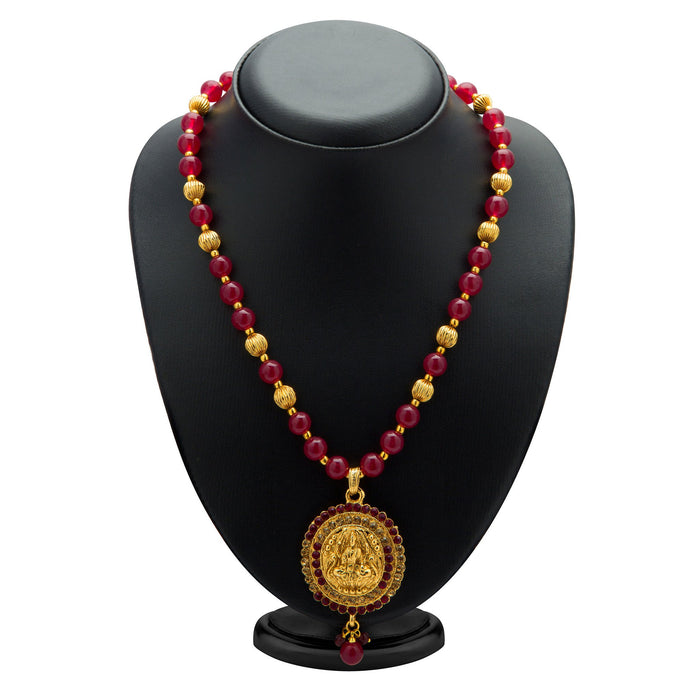 Sukkhi Exquisite Gold Plated AD Temple Jewellery Necklace Set for Women-1
