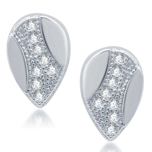 Sukkhi Exotic Rhodium Plated Micro Pave Cz Earrings