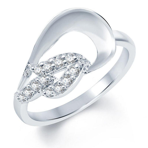 Pissara Marvellous Rhodium plated CZ Studded Ring