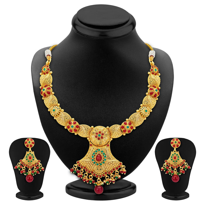 Sukkhi Astonish Gold Plated Necklace Set