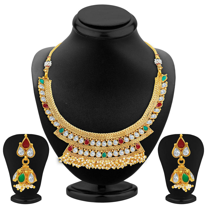 Sukkhi Enchanting Gold Plated Necklace Set