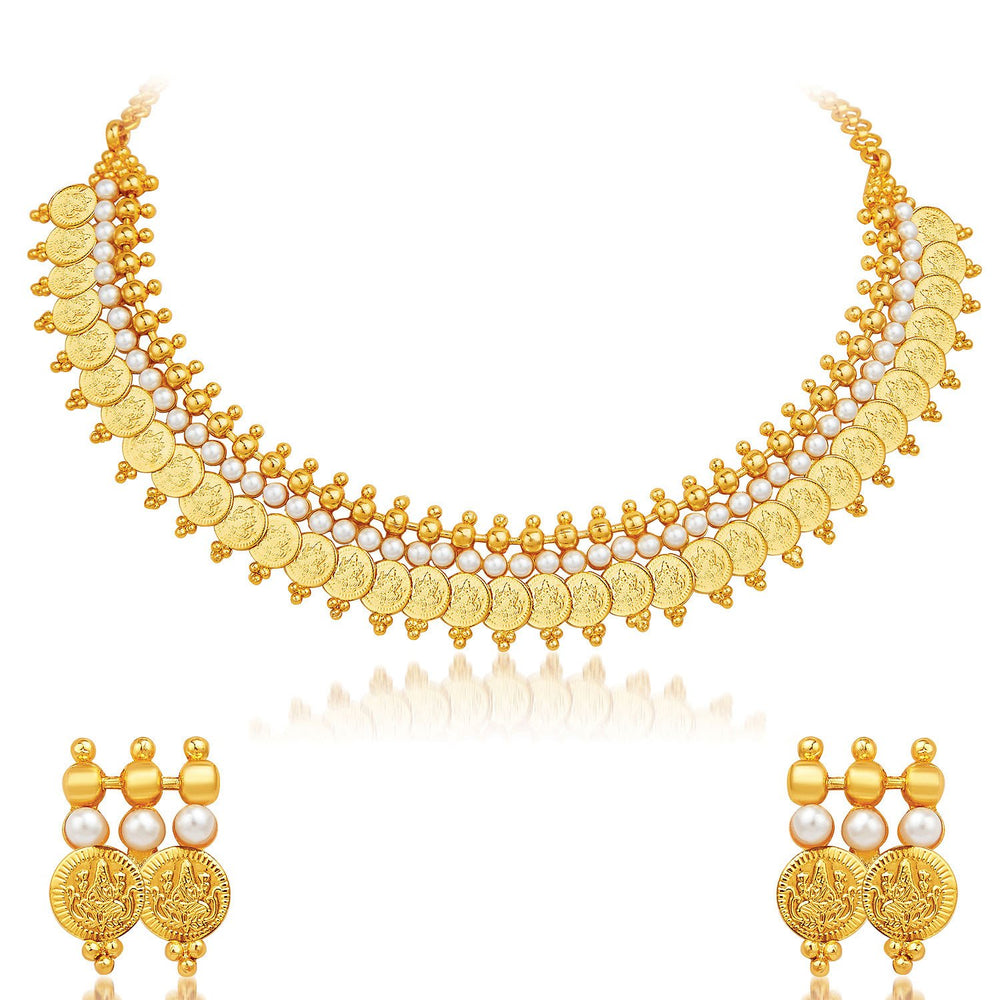 Sukkhi Exotic Gold Plated Temple Jewellery Necklace Set-1
