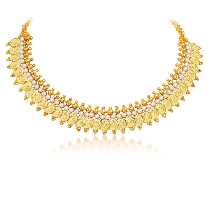 Sukkhi Exotic Gold Plated Temple Jewellery Necklace Set-3