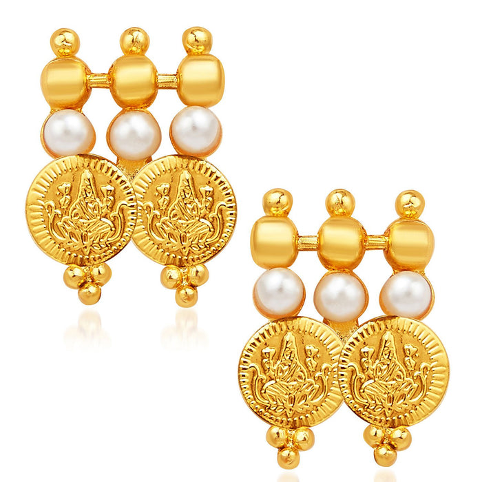 Sukkhi Exotic Gold Plated Temple Jewellery Necklace Set-5
