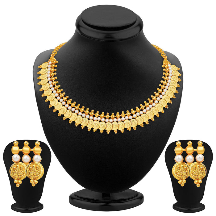 Sukkhi Exotic Gold Plated Temple Jewellery Necklace Set
