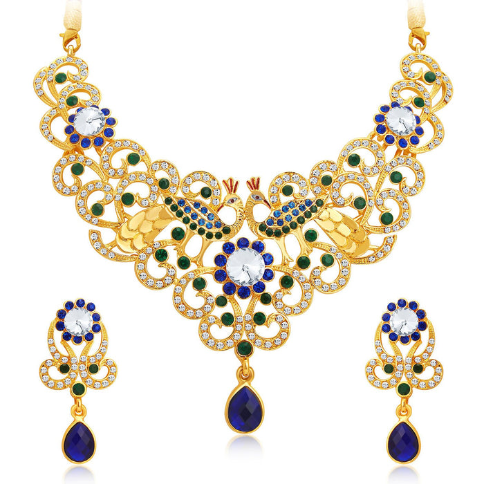 Sukkhi Exquisite Gold Plated AD Necklace Set For Women-1