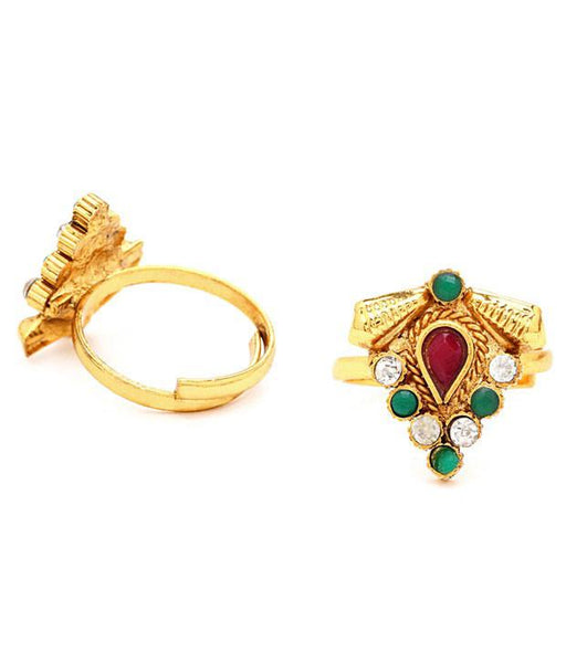 Sukkhi Delightly Gold Plated Australian Diamond Stone Studded Toering